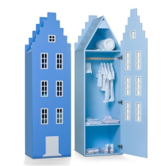Childrens wardrobe in Amsterdam design