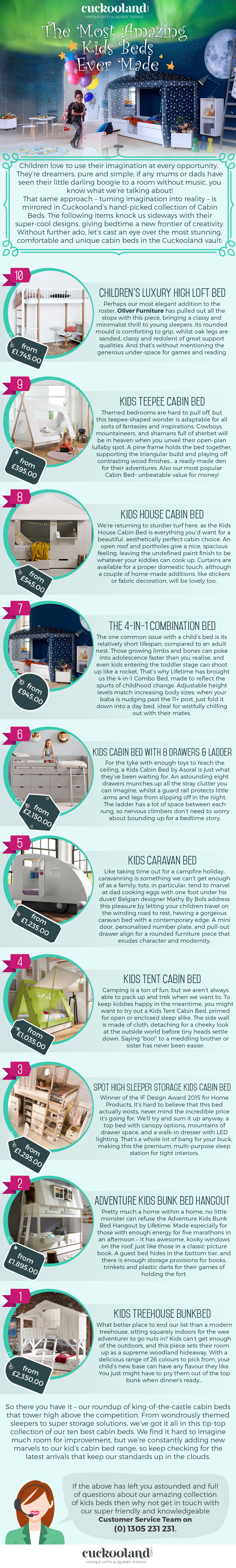 Best kids bed infographic
