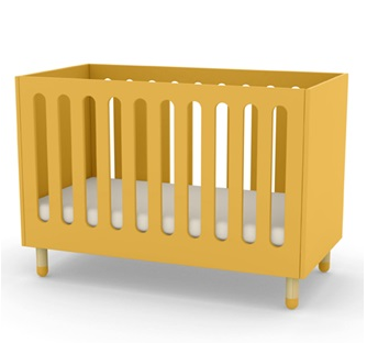 Flexa yellow cot bed