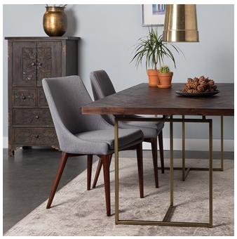 Herringbone designed wooden dinning table