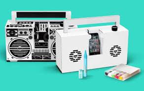 Berlin Boombox in White