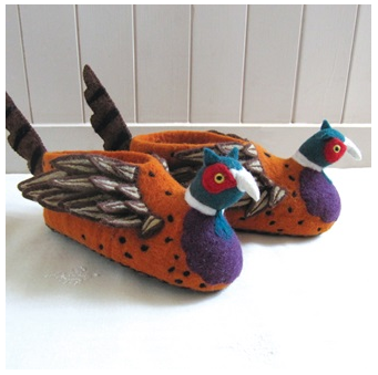 Sew Heart Felt Pheasant Slippers