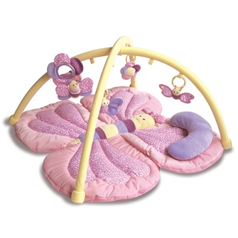 Baby play gym in butterfly design