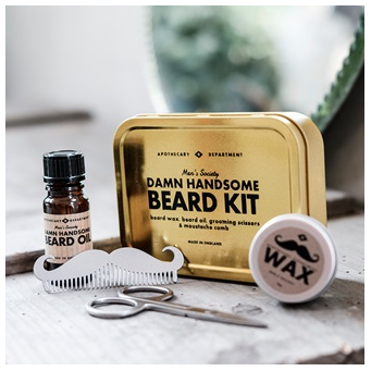 Beard grooming set for men
