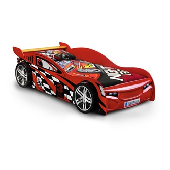 Julien Bowen race car bed in red