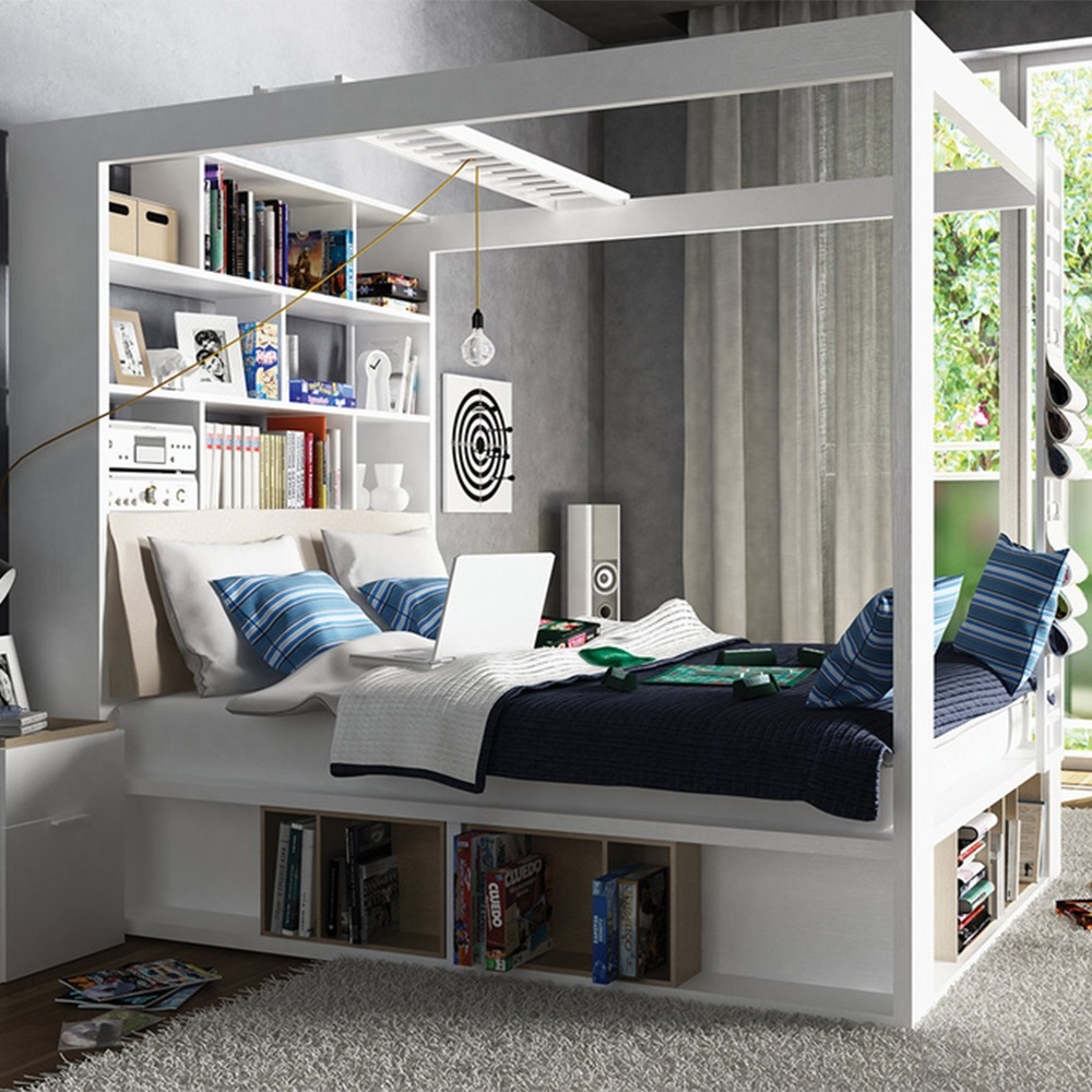 Vox-4-Poster-Storage-Bed
