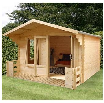 Mercia Studio Log Cabin with Veranda