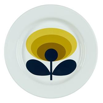 Orla Kiely Enamel Plate in 70s design