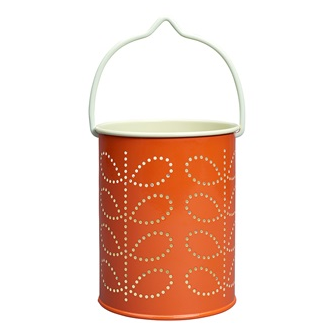 Persimmon Orange Linear Stem Print lantern