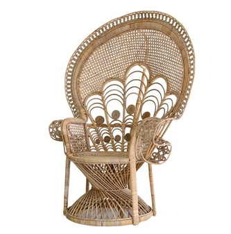 Retro Rattan Peacock Chair
