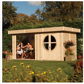 ROWLINSON CONNOR OUTDOOR WOODEN SUMMER HOUSE in Natural Timber