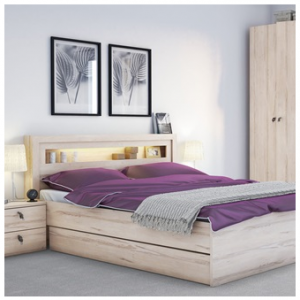 R&O Double Bed with built in light
