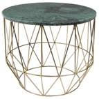 Green Marble & Brass Geometric Coffee Table