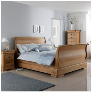 Lyon Wooden Sleigh Bed Frame