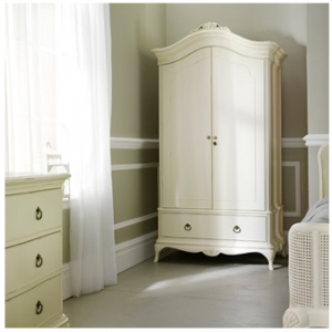 French-inspired Ivory Double Wardrobe with Drawer from Willis & Gambier