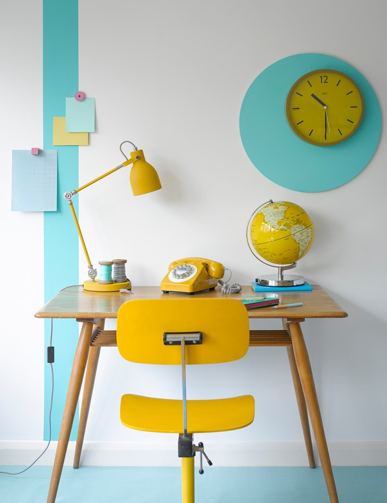 Mustard-Retro-Phone-Desk