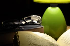 lamp with book